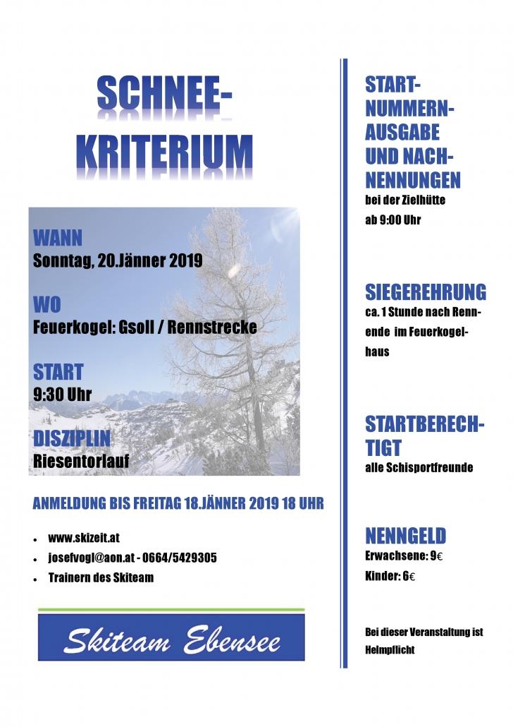 Schneekriterium @ Ebensee | Oberösterreich | Österreich
