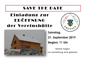 Eröffnung Vereinshütte @ Feuerkogel